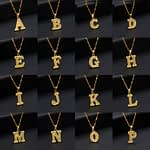 Collier Femme 2020 Capital Letter Neckaces For Women Boho Jewelry Stainless Steel Alphabet Initial Necklace Best Friend Gift