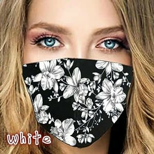 Reusable Washable Floral Roses Flower Cool Ice Silk Cloth Fabric Face Mask Cover