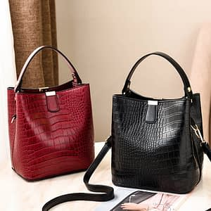 PUIMENTIUA luxury handbags Bucket Bags Women Pattern Handbag High Capacity Casual Crocodile Shoulder Messenger Bags Ladies