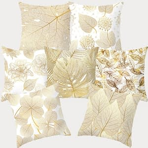 Tropical Leaf Flower Green Yellow Pillowcase Polyester Cushion Cover Throw Pillow Decorative Cushions Home Decor Pillow Covers