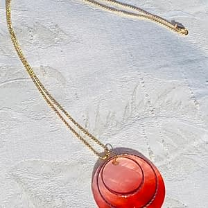orange/red pendant necklace