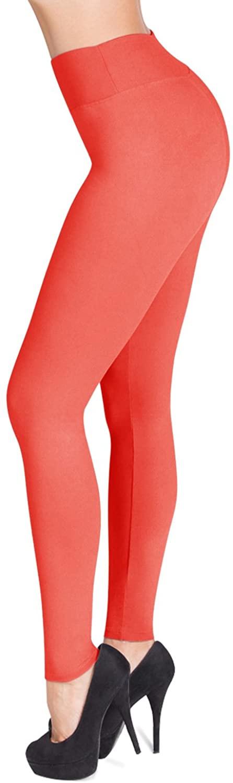 SATINA High Waisted Leggings - 25 Colors - Super Soft Full Length Opaque Slim
