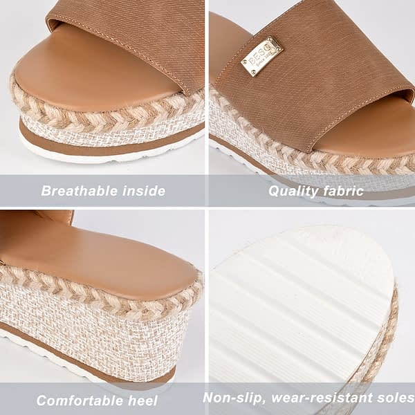 Puimentiua Platform Wedges Slippers Women Sandals 2020 New Female Shoes Fashion Heeled Shoes Casual Summer Slides Slippers Women