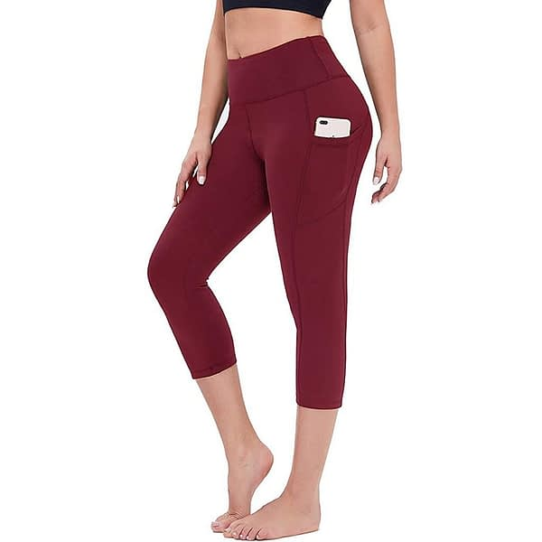 High Waist Fitness 3/4 Leggings with Pockets