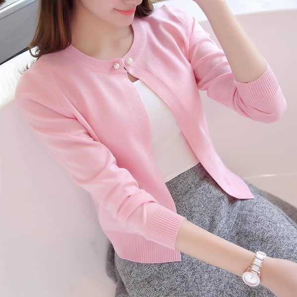 Spring autumn sweater cardigan dress sunscreen shawl thin coat a long sleeved sweater sweater girl women summer air conditioning