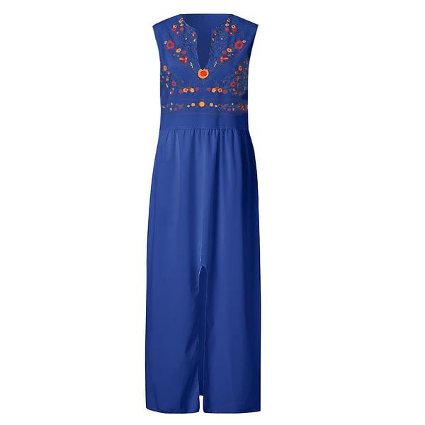 Sleeveless Fashion Sexy Printed Long Dress
