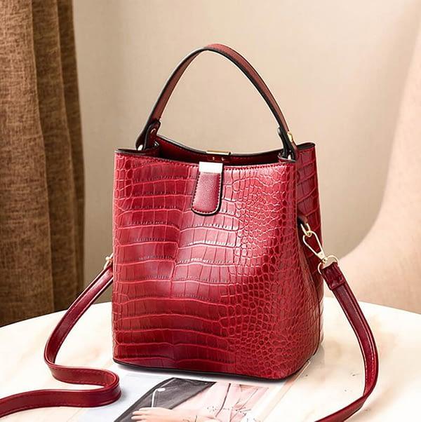PUIMENTIUA luxury handbags Bucket Bags Women Pattern Handbag High Capacity Casual Crocodile Shoulder Messenger Bags Ladies